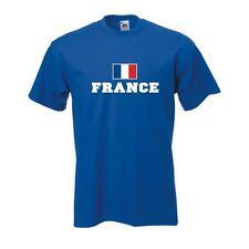 T-Shirt FRANKREICH (France), Flagshirt, Fanshirt S - 5XL (WMS02-21a)