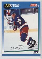 1991-92 Score Canadian English #414 Mike Eagles Winnipeg Jets Hockey Card