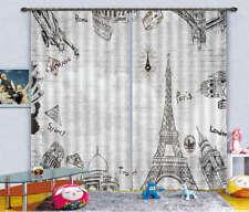 Famous Tower Of Paris3D Blockout Photo Curtain Print Curtains Fabric Kids Window