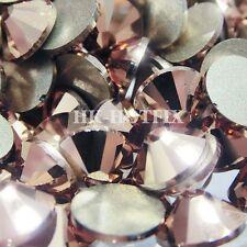 (Any Size / Qty. ) Swarovski Rose Gold ( Hotfix / NO Hotfix) Flatback Rhinestone
