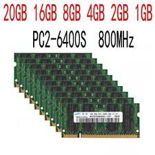 20GB 16GB 8GB 4GB 2GB PC2-6400S DDR2-800Mhz notebook Memory 200pin RAM LOT UK