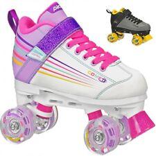 Pacer Comet Kids Roller Skates with Light Up Wheels (White) Quad Skates