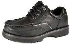 Macadam Keane Los Niños Negro Zapatos De Vestir Con Cordones Escuela Cuero