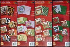 3D Mini Cards & Envelopes Cupcake Snowman Poinsettia Christmas Flowers Animals