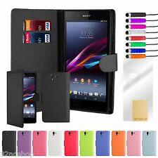 Cartera Funda de piel de cuero PU para Sony Xperia Z L36H