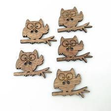 Wooden Branch owl button decoration Handicrafts Sewing Scrapbooking 35mm