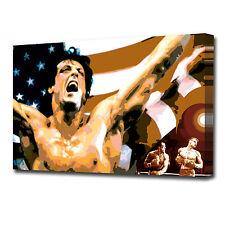 0847 ROCKY Canvas Wall Art Print Film Boxing Icon