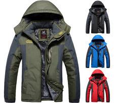 Winter Fleece Warm Mens Outdoor Windproof Waterproof Hooded Jacket Coat Oversize