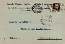 #MILANO: testatina- AZIENDA GEN. ITALIANA LAMPADE ELETTRICHE