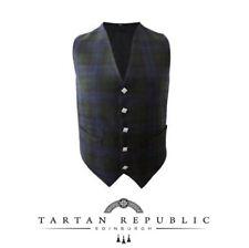 Nuova Mens matrimonio Tartan Repubblica gilet scozzese In Tartan Black Watch