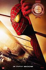 NEW SPIDER-MAN ORIGINAL TWIN TOWERS 2002 MOVIE FILM CINEMA PRINT PREMIUM POSTER