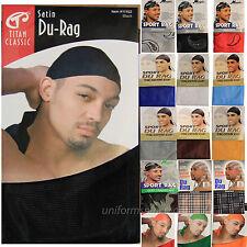 Men's DU RAG w/ Long Tie Sports DU-RAG Tie Down Cap HeadWrap Breathable One Size