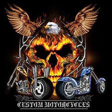 Custom Motorcycles Eagle Spirit Skull Choppers Biker T-Shirt Tee