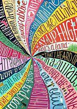 SOMEWHERE OVER THE RAINBOW LYRICS SWTR01 Wall Art Poster Print A3 A4