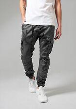 URBAN CLASSICS Pantaloni uomo mimetici Camo Cargo Jogging Pants TB1611 Grey camo