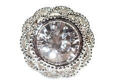Damen Ring Tosca, Metall-Legierung, rhodiniert, Zirkonia
