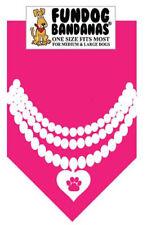 Pearl Necklace - Fun Dog Bandana - Small - 100% SALE BENEFITS RESCUE