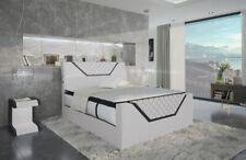 Boxspringbett Design Bett NANTES Ehebett LED Hotel Luxus Lederbett Komplettbett