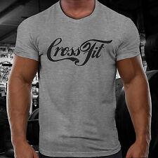 CROSSFIT GYM T-Shirt 100 D Allenamento Funzionale Sport Fitness Allenamento Forza orale