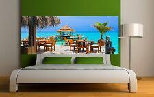 Papier peint tête de lit oeil decor paradisiaque 3669 Art déco Stickers