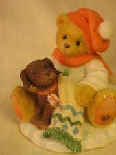 Cherished Teddies Lee Bear With Puppy Mib #272167