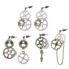 Dangle Long Hook Earring Club Jewelry Women Steampunk Antique Women Gear Pendant