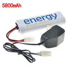 1x Energy 7.2V 5800mAh Ni-Mh Rechargeable Battery RC Tamiya+Charger