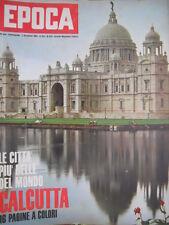 Epoca 636 1962 Dossier su Calcutta.La storia di Benedetto Croce.Virna Lisi