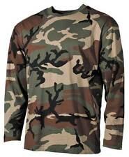 US Army Tarn-Shirt, Langarmshirt, woodland, 160g/m² Military MFH