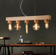 Nordic Wooden Ceiling Fixtures Lights Pendant Lamp Light Hanging Wood Chandelier