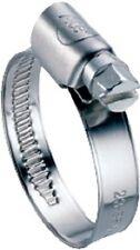 Manguera de acero fino abrazadera w4 9mm banda repujada tamaño a elección completo v2a va