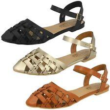 Womens Spot On Ankle Strap Sandal