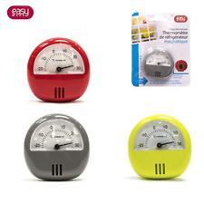 Thermomètre Frigo Congélateur Magnétique Aimanté  6 x 5.5cm -20 à 30°C 3 Couleur