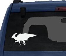 Dinosaur Silhouette #7 - Parasaurolophus Horned Spiky  - Car Tablet Vinyl Decal