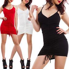 Vestito donna mini abito arricciato fasciante aderente sexy corto hot VB-5663