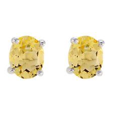 Yellow 925 Sterling Silver genuine splendid Citrine gemstone Earring AU gift