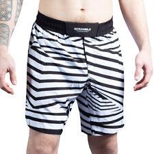 Scramble Dazzle Camo Mma Grappling Shorts - Black/White