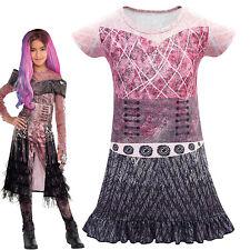 Descendants Halloween Girls Kids Costume Cosplay Suits 3D Jumpsuits Mini Dress