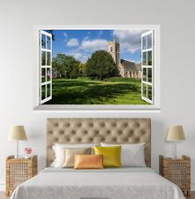 3D Grassland House 027 Open Windows WallPaper Wandbilder Wall Print AJ Jenny