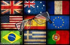 Gafas Paño de limpieza banderas del mundo Idea Regalo Perfecto