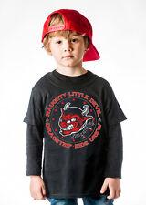Dragstrip Kids Crew Black Naughty Little Devil Kids T`Shirt Tattoo Kids Apparel