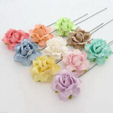50 Pastel Paper Flowers Wedding Decor Bouquet Headpiece Centerpiece Topper R22