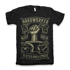Hardworker T Shirt Vintage 1879 Lumberjack S-3XL Black never give up