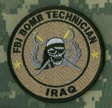 OEF IRAQ FBI BOMB TECH SQN JUMPSUIT SSI: CALICO JACK JOLLY ROGER SKULL BOMB TECH