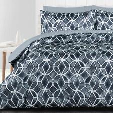 Granada Black Quilt Doona Duvet Cover Set Bedding Turtle Shell Grey Shibori Gray