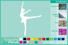 BALLERINA cut vinyl decal #4 car truck window sticker Ballet Dancer