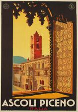 Tv74 vintage 1932 Ascoli Piceno Italie Italien voyage Poster A2 A3 réimpression