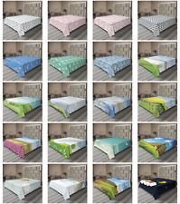 Ambesonne Rain Flat Sheet Top Sheet Decorative Bedding 6 Sizes