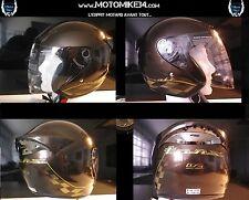 Jethelm Motorradroller farbe chocolat metallisch Damier Gold Anerkannt Größe S/m