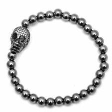 Hematite Crystal Skull Bracelet Top Quality Jewellery For Men A745